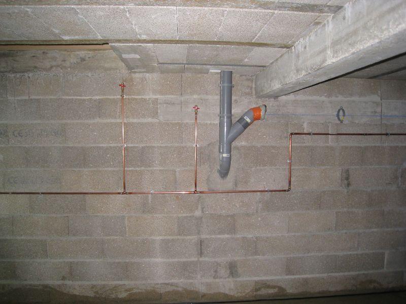 plomberie dans le vide sanitaire