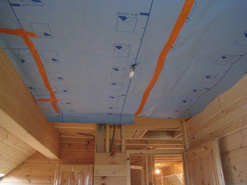 le pare vapeur posé au plafond